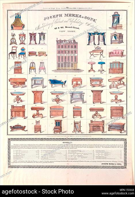 Broadside. Artist: Joseph Meeks & Sons (American, New York, 1829-35); Publisher: Printed and published by Endicott & Swett (New York