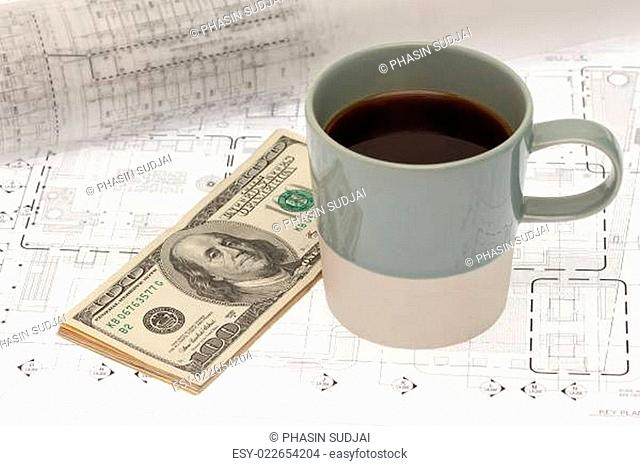 Coffee cup and project budget
