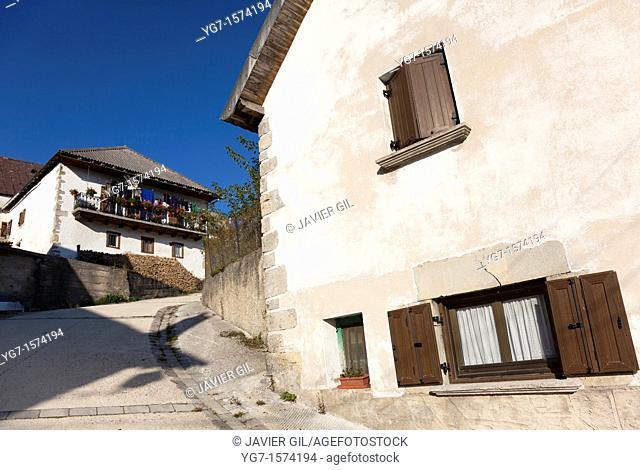 Street of Orbaitzeta, Navarra, Spain