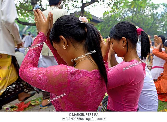 Indonésia, Bali, Klungkung, Kori Agung Tankash temple, Saraswati festival
