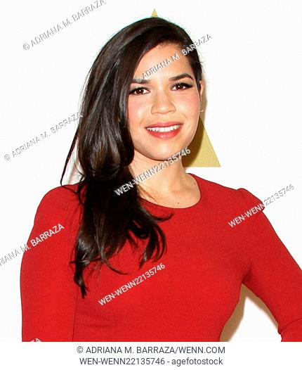 Oscar nominees luncheon held at the Beverly Hilton Hotel - Arrivals Featuring: America Ferrera Where: Los Angeles, California