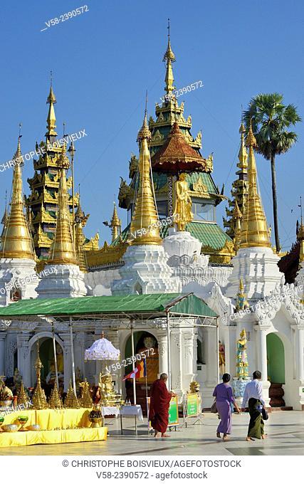 Myanmar, Yangon (Rangoon), Shwedagon pagoda