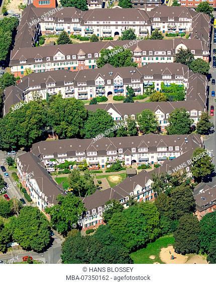 Duisburg-Hüttenheim Settlement Hüttenheim, historic miner's settlement, former plant settlement Hüttenheim, Duisburg, Ruhr area, North Rhine-Westphalia, Germany