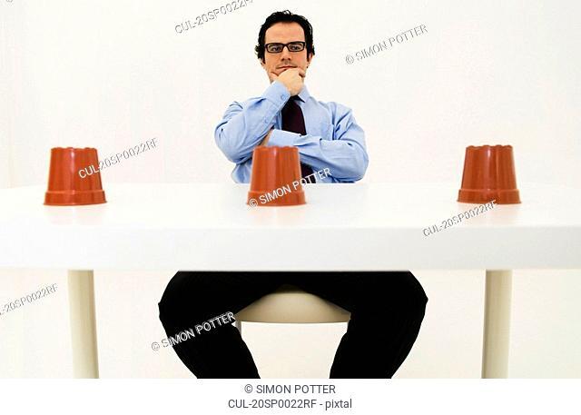Man ponders location of hidden item