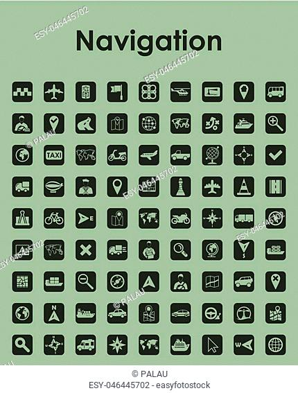 Set of navigation simple icons