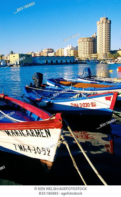 Fishing port. Fuengirola. Malaga province. Andalusia. Spain