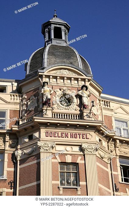 Closeup NH Doelen Hotel Amsterdam Holland