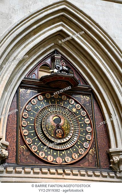 Astronomical Clock, Wells Cathedral, Wells, England