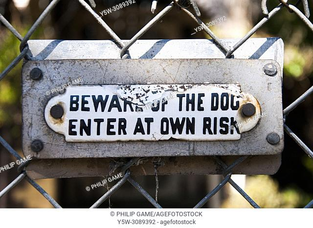 Householders' Beware of the Dog warnings, Melbourne, Australia