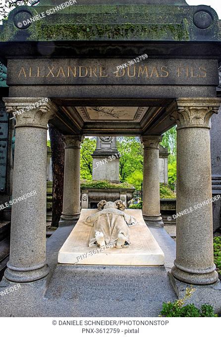 France, Ile de France, Paris, 18th district, writer Alexandre Dumas' tomb, Montmartre cemetery