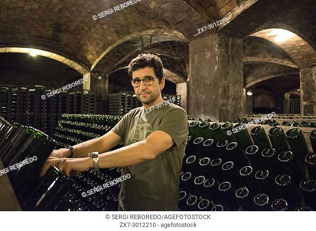 Inside Blancher winery industry. Sant Sadurni d'Anoia, San Sadurni de Noya. Winery building. Catalonia Spain