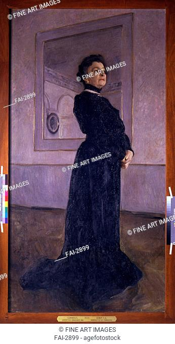 Portrait of the actress Maria Yermolova (1853-1928). Serov, Valentin Alexandrovich (1865-1911). Oil on canvas. Art Nouveau. 1905