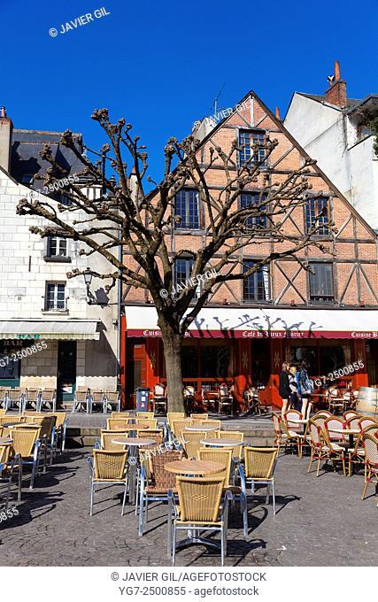 Square in Tours, Indre-et-Loire, France