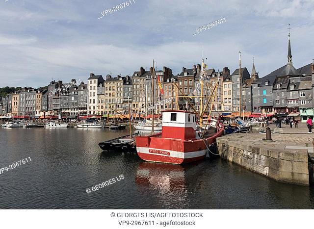 Honfleur harbour, Honfleur, Normandy, France