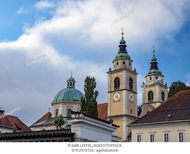 Slovenia Ljubljana Cathedral Spires