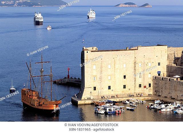 City walls, Dubrovnik, Dalmatia, Croatia