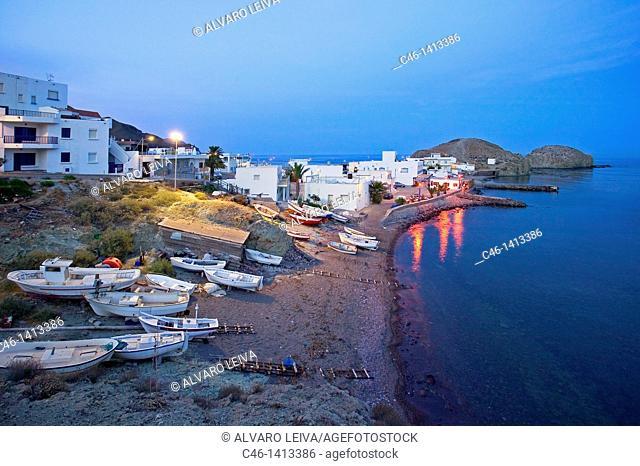 Isleta del Moro fishing village, Natural Reserve of Cabo de Gata-Níjar  Almería province, Spain