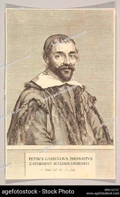 Pierre Gassendi. Artist: Claude Mellan (French, Abbeville 1598-1688 Paris); Sitter: Portrait of Pierre Gassendi (1592-1655 Paris); Date: ca