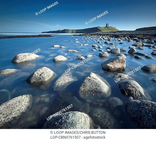 A view of Dunstanburgh Castle in Northumberland