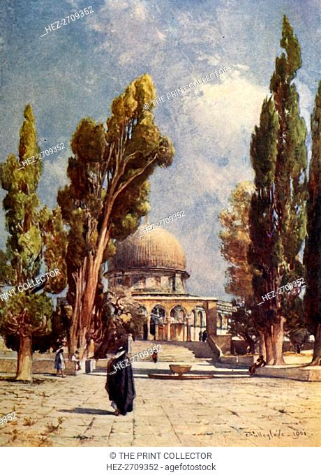 'The Dome of the Rock from the Mosque El Aksa', 1902. Creator: John Fulleylove