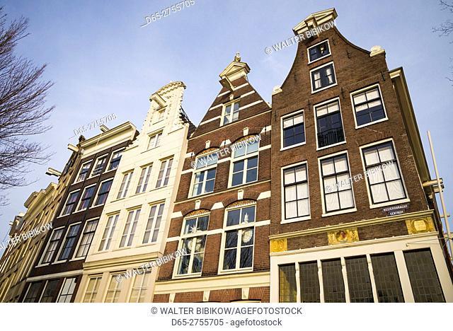 Netherlands, Amsterdam, Prinsengracht canal, building detail