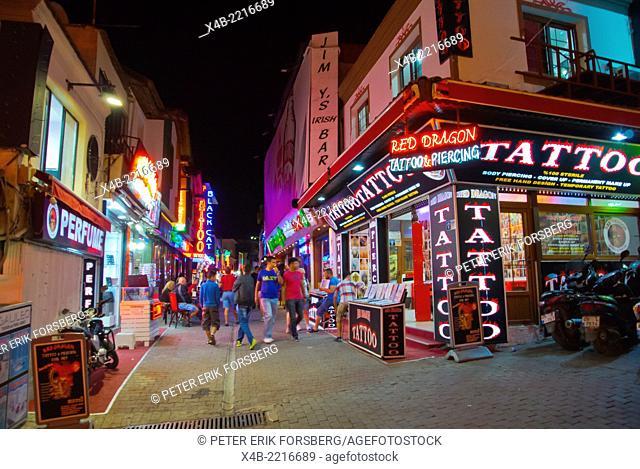 Bar street, old town, Kusadasi, Turkey, Asia Minor