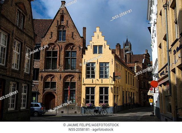 Street view. Bruges, West Flanders, Belgium