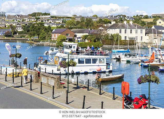 Spirit of Kinsale tour boat docking in harbour, Kinsale, County Cork, Ireland