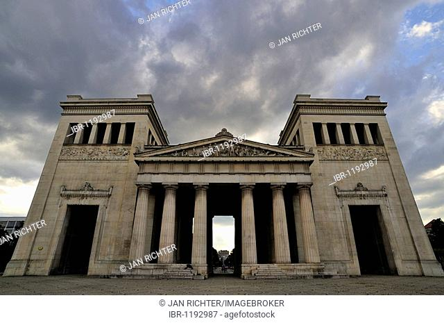 Propylaea museum on Koenigsplatz square in Munich, Bavaria, Germany, Europe