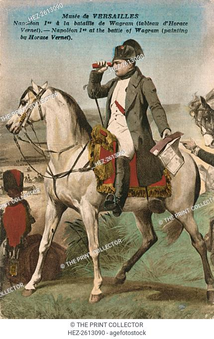 Napoleon at the Battle of Wagram, (1809), c.1910s