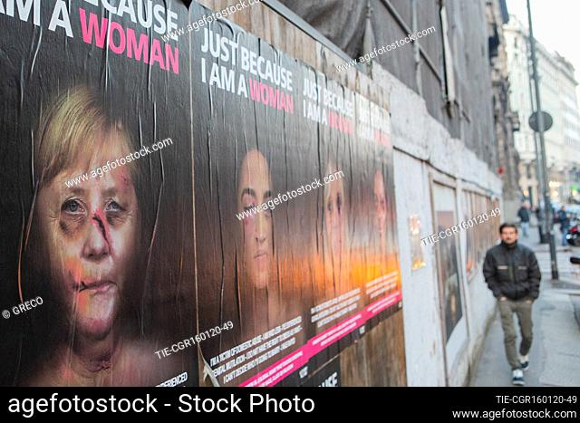Just Because I Am A Woman: portraits of some of the world's leading women appear in the provocative posters against gender violence