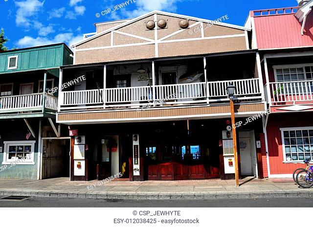 Old Lahaina storefronts, Maui