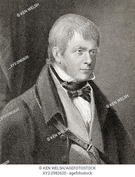 Sir Walter Scott, 1st Baronet, 1771 - 1832. Scottish historical novelist, playwright and poet. From Hutchinson's History of the Nations, published 1915