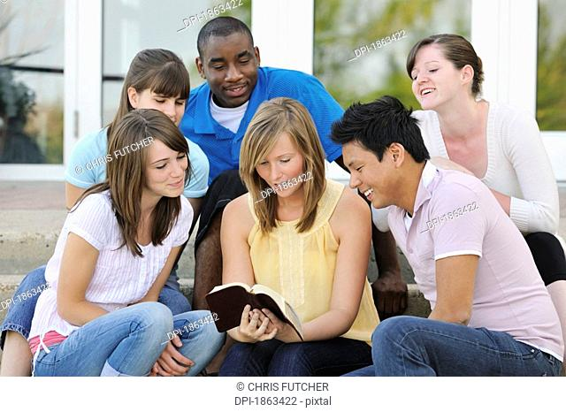 A diverse group of Christian young adults