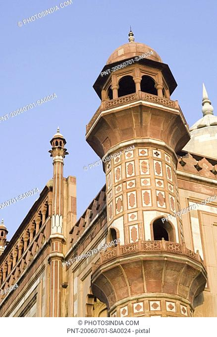 Low angle view of the watch tower of a monument, Safdarjung Tomb, New Delhi, India