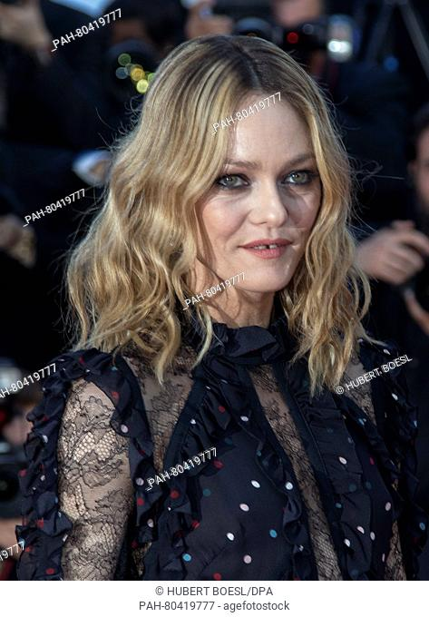 Vanessa Paradis attends the premiere of 'From The Land And The Moon (Mal De Pierres)' during the 69th Annual Cannes Film Festival at Palais des Festivals in...