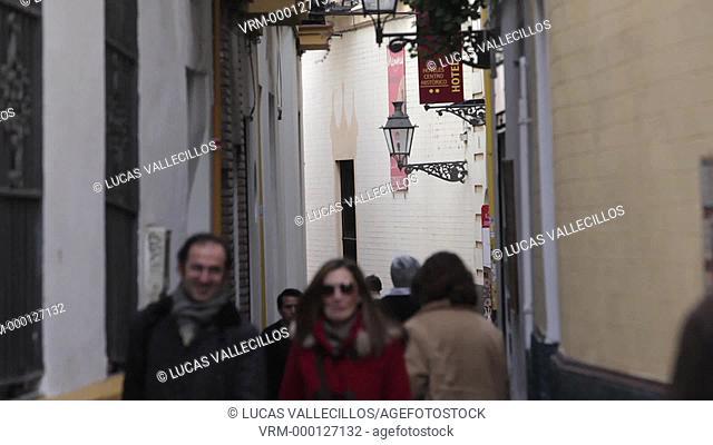 Alley in Santa Cruz Quarter,Sevilla,Andalucía,Spain