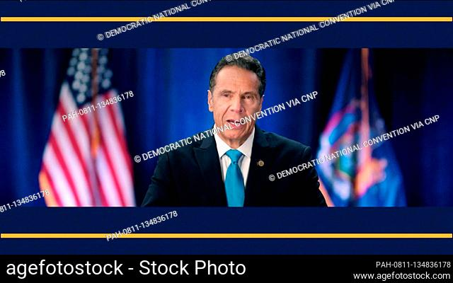 In this image from the Democratic National Convention video feed, Governor Andrew Cuomo (Democrat of New York) makes remarks on the first night of the...