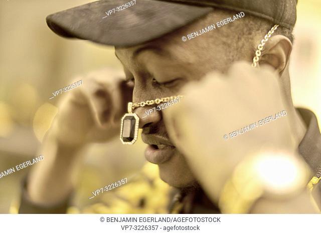 man, necklace, jewelry, headshot