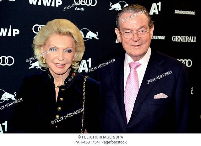 Entrepreneur Maria-Elisabeth Schaeffler and her partner Juergen Thumann, president of the European Employers Association