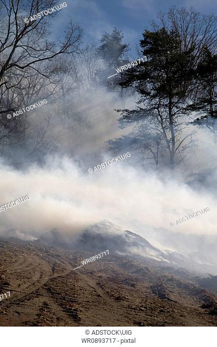 Mulch Fire at Condo Development, Sevier County, TN