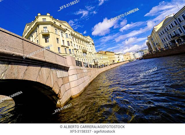 Channel and Traditional Architecture, Saint Petersburg, UNESCO World Heritage, Russia