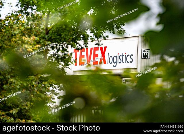 The transport company Tevexlogistics is located next to the headquarters of the Toennies group in Rheda-Wiedenbrueck on July 27th, 2020