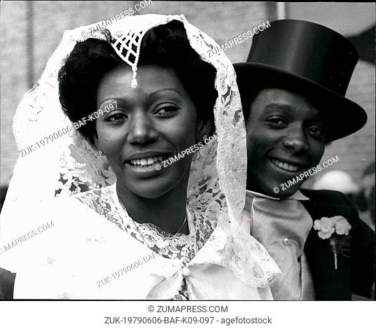 Jun. 06, 1979 - Liz Mitchell of Boney M weds: Singer of the Chart topping Boney M was married on Saturday at the Methodist Church in Herlesden, North London