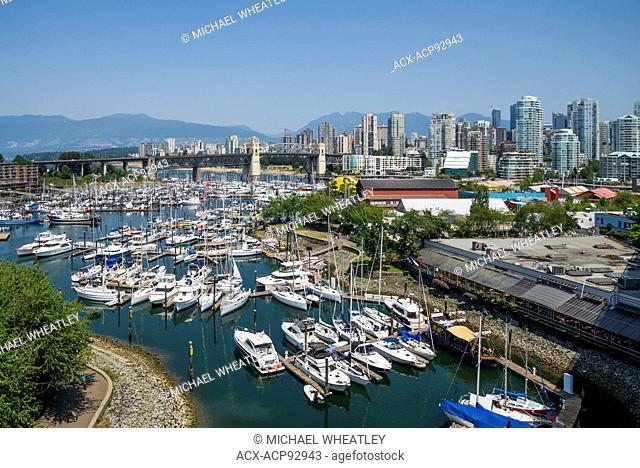 False Creek marina at Granville Island, Vancouver, British Columbia, Canada
