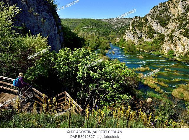 Roski Slap, Krka Waterfalls, Krka National Park, Croatia