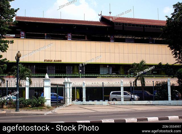 Railway station Gambir in central Jakarta, Indonesia