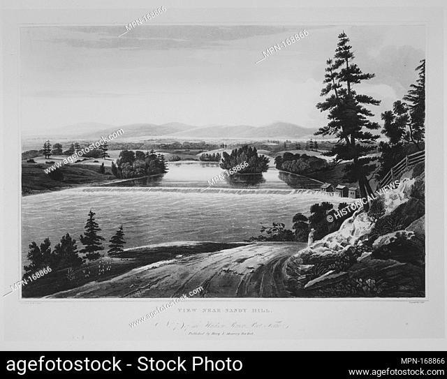 View Near Sandy Hill (No. 7 of The Hudson River Portfolio). Series/Portfolio: The Hudson River Portfolio; Etcher: John Hill (American (born England)
