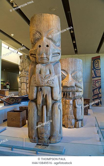 Canada, North America, America, Vancouver, British Columbia, wooden, carvings, exhibits, first nation, art, Great Hall