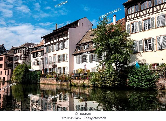 View in Petite France in Strasbourg Alsace